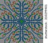 circular   pattern of floral... | Shutterstock . vector #310299401