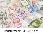 international currencies... | Shutterstock . vector #310314524
