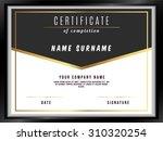 vector certificate template... | Shutterstock .eps vector #310320254