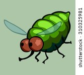 cartoon vector fly | Shutterstock .eps vector #310325981