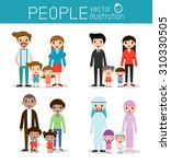 set of happy family  different...   Shutterstock .eps vector #310330505