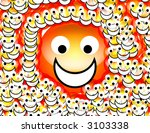 an image of a set of happy... | Shutterstock . vector #3103338