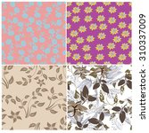 floral seamless pattern  ... | Shutterstock .eps vector #310337009