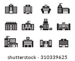 hospital icons set on white... | Shutterstock .eps vector #310339625
