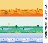 background seamless landscapes... | Shutterstock .eps vector #310344665
