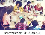 diverse group people working... | Shutterstock . vector #310350731