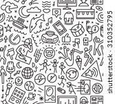 Music Seamless Pattern With...