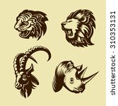 Collection Of Animal Heads....