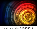 abstract technology and... | Shutterstock .eps vector #310353314