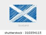 a scribbled flag illustration... | Shutterstock . vector #310354115
