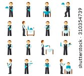 waiter man with restaurant... | Shutterstock . vector #310354739
