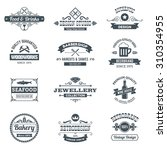 retro black logo emblems set... | Shutterstock . vector #310354955