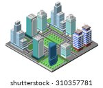 modern city concept with... | Shutterstock . vector #310357781