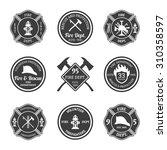 fire department professional... | Shutterstock . vector #310358597