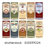 food retro banners set with... | Shutterstock . vector #310359224