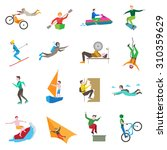 extreme sports icons set with... | Shutterstock . vector #310359629