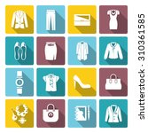 businesswoman clothes flat icon ... | Shutterstock . vector #310361585