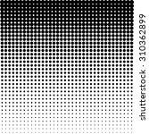 vector halftone dots   black | Shutterstock .eps vector #310362899