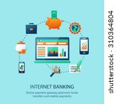 internet banking poster with... | Shutterstock . vector #310364804