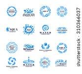 water company aqua mineral logo ... | Shutterstock . vector #310366037