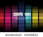 abstract colorful cubes... | Shutterstock .eps vector #31036822