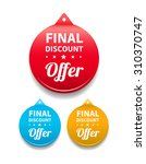 final discount offer round tag | Shutterstock .eps vector #310370747