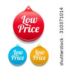 low price round tag | Shutterstock .eps vector #310371014