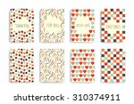 set of flyers  banners  cards ... | Shutterstock .eps vector #310374911