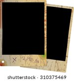 two old photo frames  grungy...   Shutterstock .eps vector #310375469