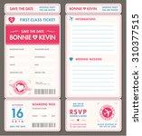 vector tickets for wedding... | Shutterstock .eps vector #310377515