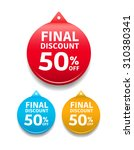 final discount 50  off round tag | Shutterstock .eps vector #310380341