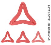 red line triangle logo design...