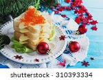 christmas sandwiches with... | Shutterstock . vector #310393334