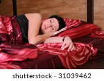 young woman is sleeping in the... | Shutterstock . vector #31039462