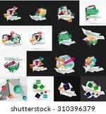 set of light  paper design... | Shutterstock .eps vector #310396379