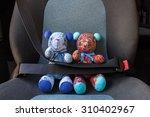 teddy bears with seat belt... | Shutterstock . vector #310402967