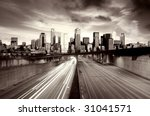 traffic escaping a post... | Shutterstock . vector #31041571