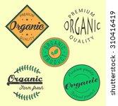 organic premium quality retro... | Shutterstock .eps vector #310416419