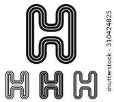 black line letter h logo design ...