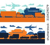 freight cargo transport icons... | Shutterstock .eps vector #310429079