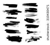 black abstract ink strokes set... | Shutterstock .eps vector #310430471