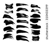 black ink strokes big set 1 on... | Shutterstock .eps vector #310433399