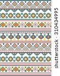 tribal  ethnic pattern ... | Shutterstock .eps vector #310434995