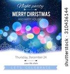 christmas card design. magic... | Shutterstock .eps vector #310436144