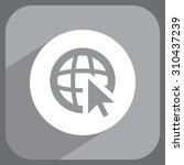 globe  go to web   web icon.... | Shutterstock .eps vector #310437239