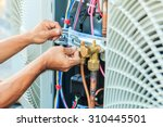 air conditioning technician and ... | Shutterstock . vector #310445501