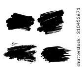 black ink vector stains | Shutterstock .eps vector #310452671