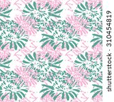 seamless textile pattern with... | Shutterstock .eps vector #310454819