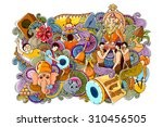 vector illustration of colorful ... | Shutterstock .eps vector #310456505