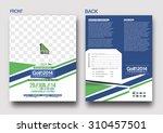 golf tournament front   back... | Shutterstock .eps vector #310457501
